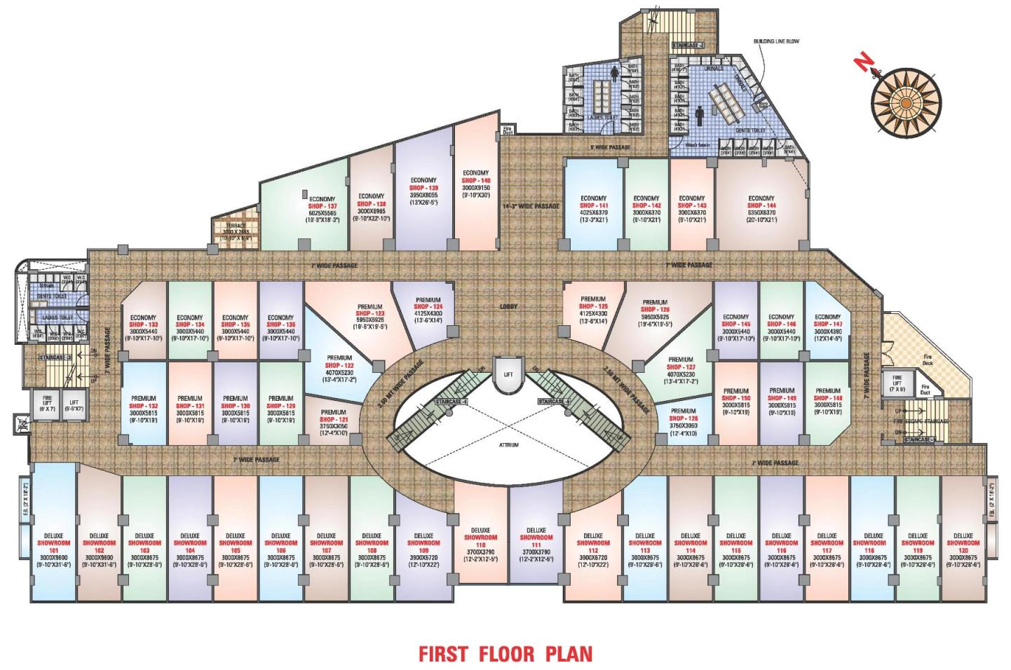 Arihant mall commecial project near bus stand for Floor plan project